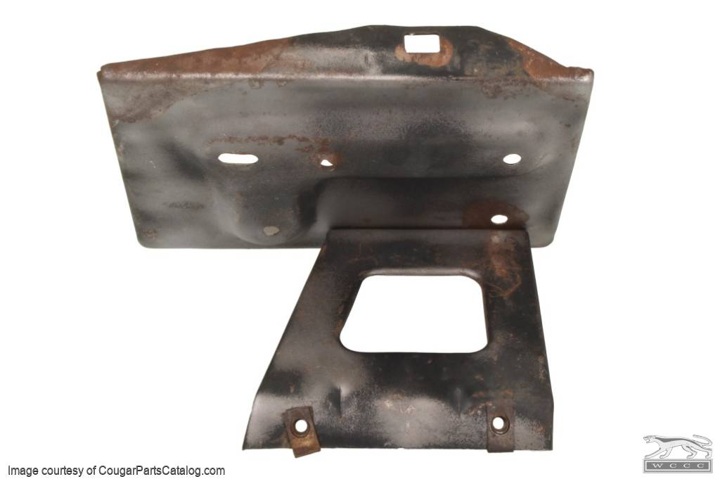 Battery Tray - Group 24 - Used ~ 1968 - 1970 Mercury Cougar / 1968 - 1970 Ford Mustang - 30631