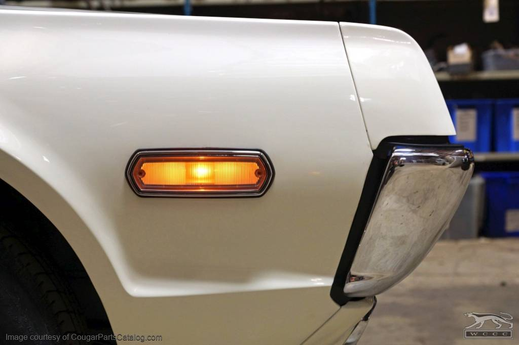 Lens - Side Marker Light / Turn Signal - Front - Repro ~ 1968 Mercury Cougar / 1968 Ford Cyclone / 1968 Mercury Montego - 30644