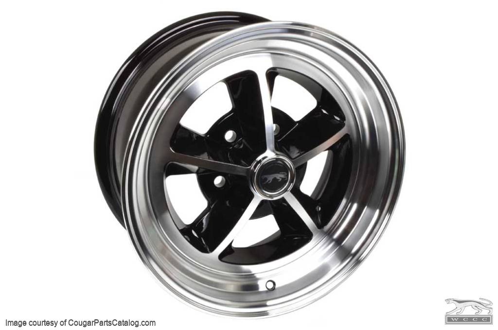 Legendary 1969 / 1970 Shelby - Aluminum Wheel - 17 X 7 - Black Gloss - Repro ~ 1967 - 1973 Mercury Cougar / 1967 - 1973 Ford Mustang - 31405