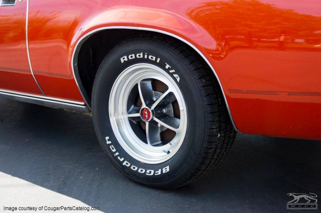 Legendary 1969 / 1970 Shelby - Aluminum Wheel - 15 X 7 - Charcoal - Repro ~ 1967 - 1973 Mercury Cougar / 1967 - 1973 Ford Mustang - 30699