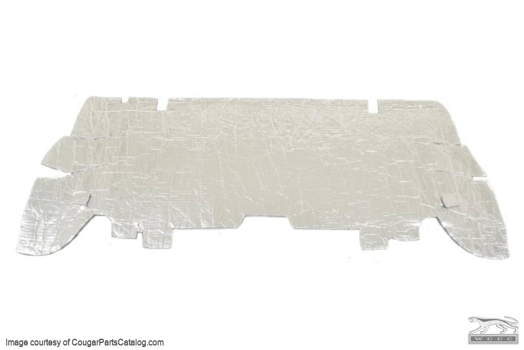Sound Barrier - Foil - Seat Divider - Coupe - OEM STYLE - Repro ~ 1967 - 1970 Mercury Cougar - 30743