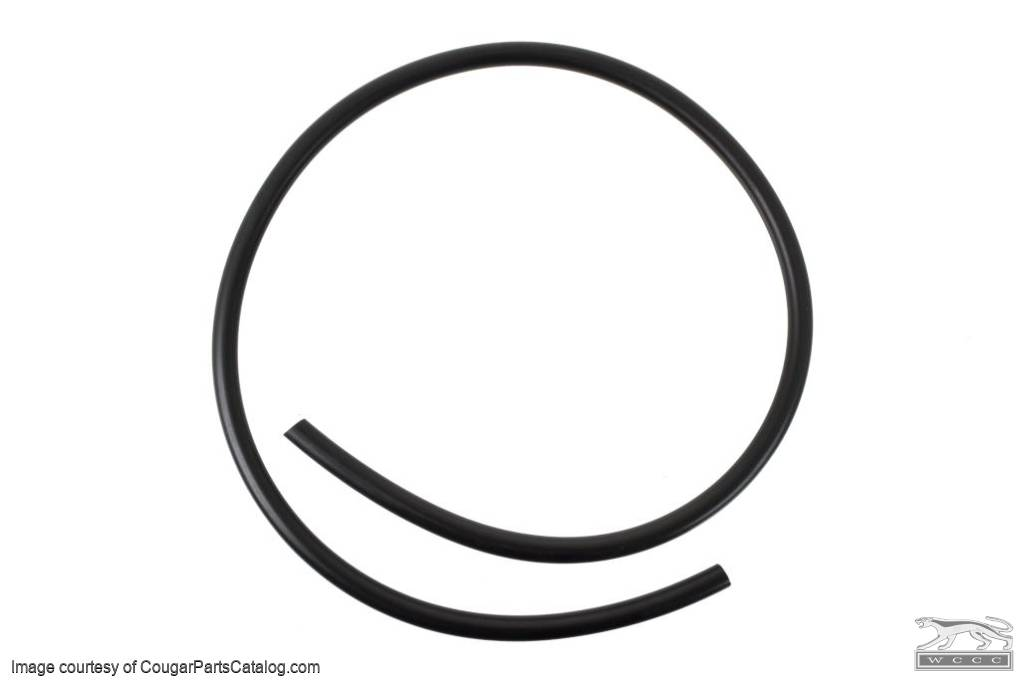 Overflow Hose - Radiator - SMOOTH - Repro ~ 1969 - 1973 Mercury Cougar / 1969 - 1973 Ford Mustang  - 30756