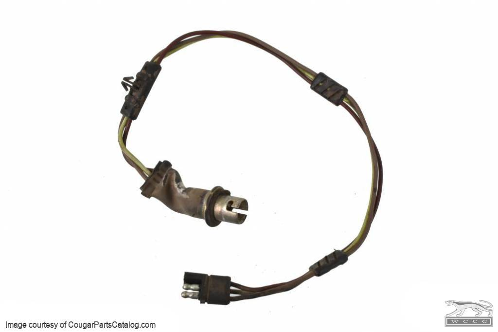 Wiring harness - Turn Signal / Parking Lamp - Driver Side - Used ~ 1971 - 1973 Mercury Cougar  - 30821