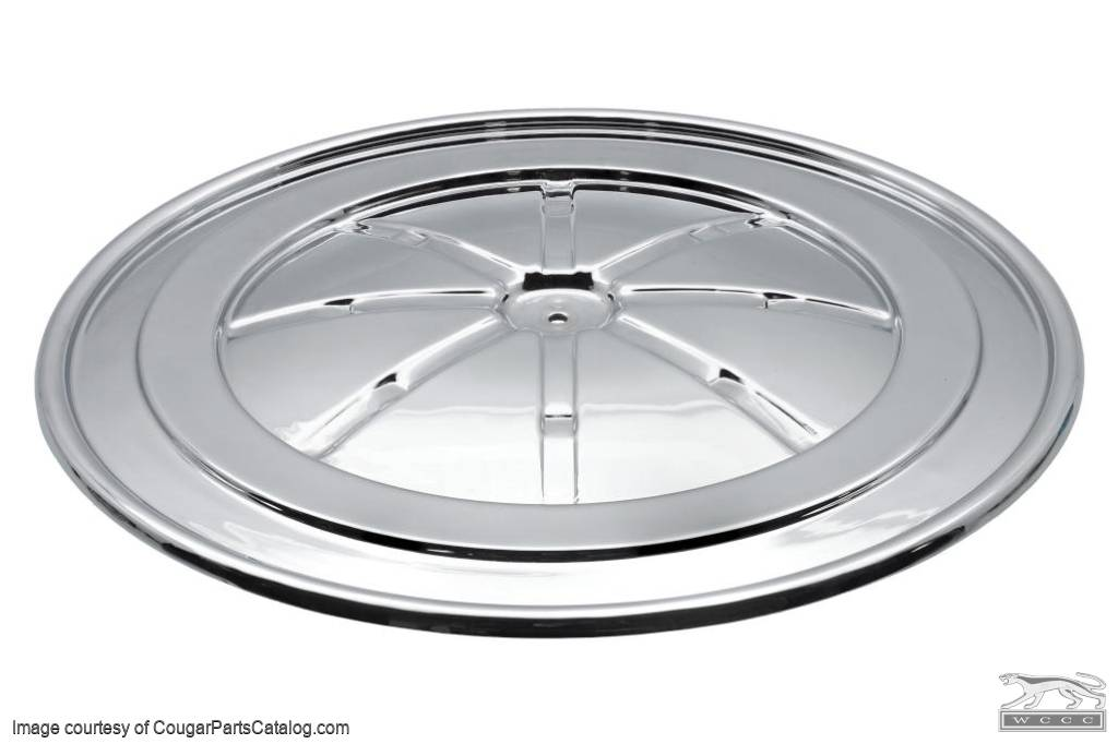 Lid - Air Cleaner - 390 GT / 428 CJ / 302 Boss - Chrome - Restored ~ 1967 - 1970 Mercury Cougar / 1967 - 1970 Ford Mustang - 30827