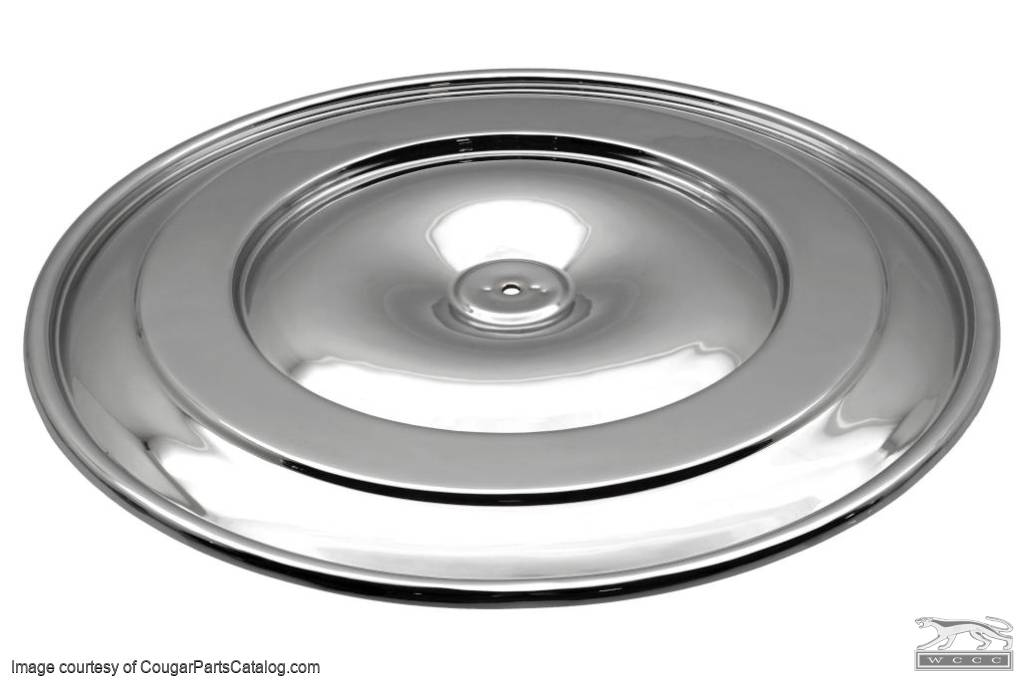 Lid - Air Cleaner - Chrome - Restored ~ 1968 - 1971 Mercury Cougar / 1968 - 1971 Ford Mustang - 30828