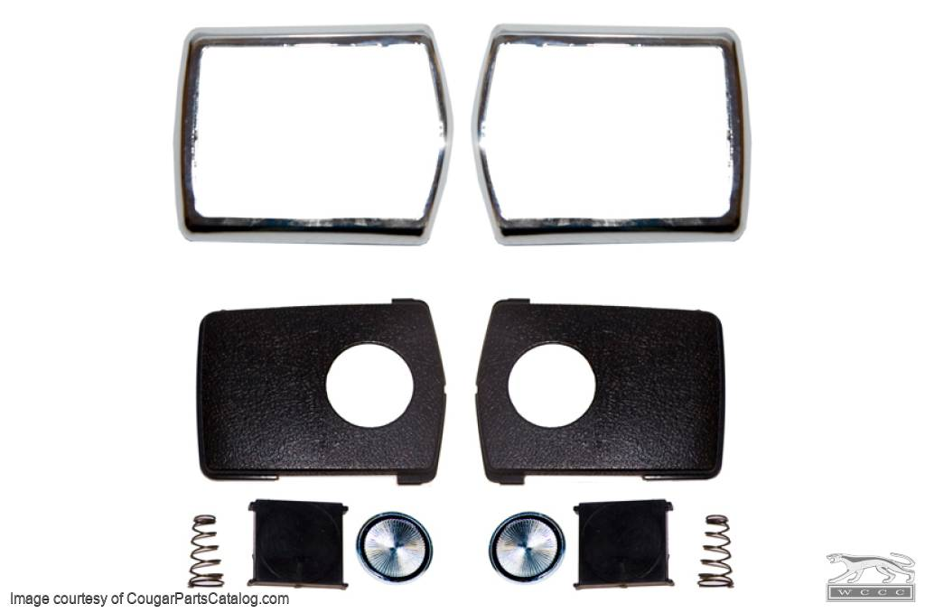 Seat Belt - Deluxe Buckle Restoration Kit - Repro ~ 1968 - 1972 Mercury Cougar / 1968 - 1972 Ford Mustang - 30898