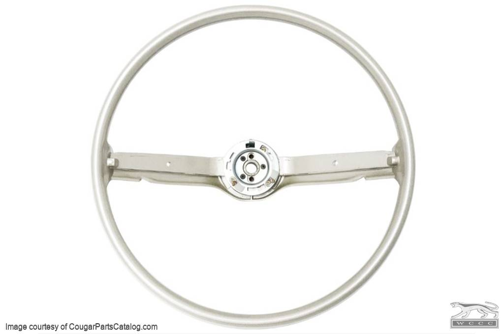 Steering Wheel - Standard - WHITE / PARCHMENT - Repro ~ 1968 - 1969 Mercury Cougar / 1968 - 1969 Ford Mustang - 30926