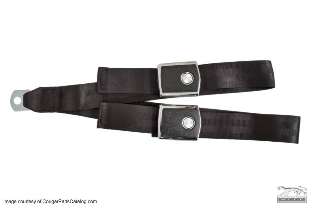Set Belts - Complete Set - Deluxe - COUPE - Repro ~ 1968 - 1969 Mercury Cougar / 1968 - 1969 Ford Mustang  - 31017