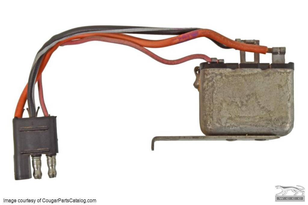 Relay - Seat Back Release - Used ~ 1971 - 1973 Mercury Cougar / 1971 - 1973 Ford Mustang  - 31073