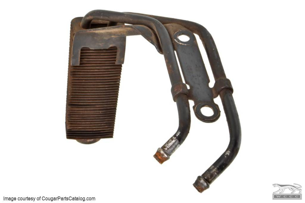 Power Steering Oil Cooler - with A/C - Used ~ 1971 - 1973 Mercury Cougar / 1971 - 1973 Ford Mustang - 31118