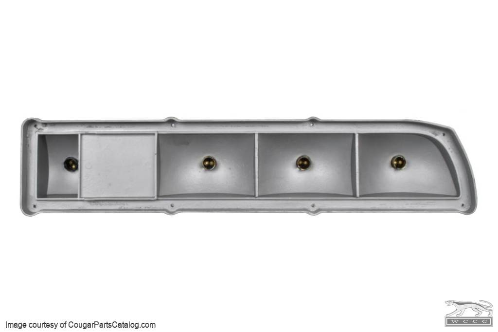 Taillight Housing - Complete Assembly - Passenger Side - Restored ~ 1971 - 1972 Mercury Cougar - 31346