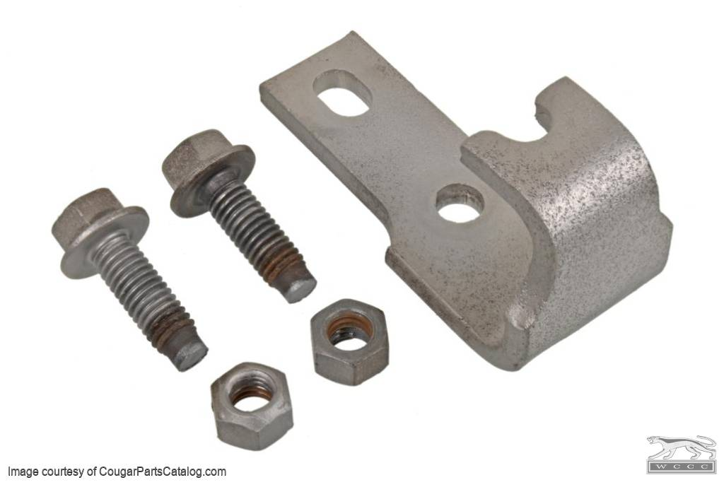Clutch Pedal Spring Return Bracket - Used ~ 1969 - 1970 Mercury Cougar - 1969 - 1970 Ford Mustang - 314047
