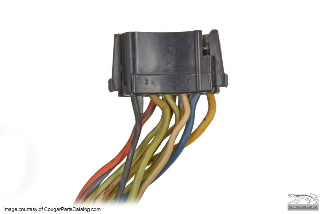 Wiring Pigtail - Under Dash Harness to Turn Signal Switch - Used ~ 1971 - 1972 Mercury Cougar - 31517