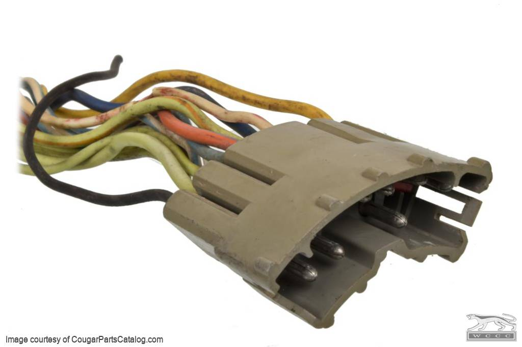 Wiring Pigtail - Under Dash Harness to Turn Signal Switch - Used ~ 1973 Mercury Cougar - 31518