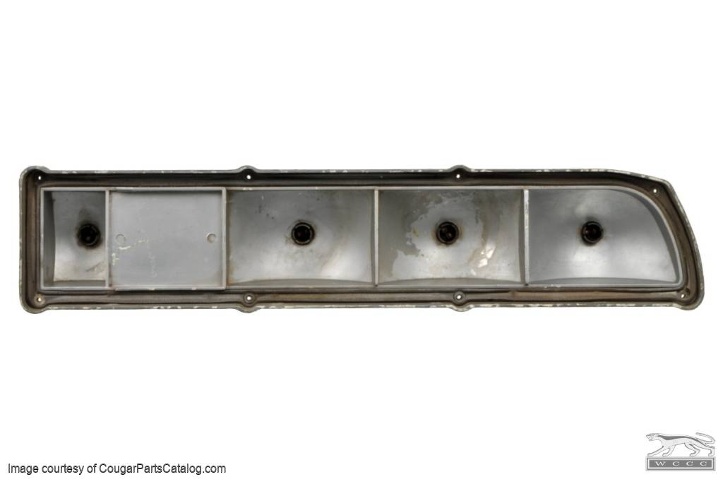 Taillight Housing - Complete Assembly - Passenger Side - Used ~ 1971 - 1972 Mercury Cougar - 32146