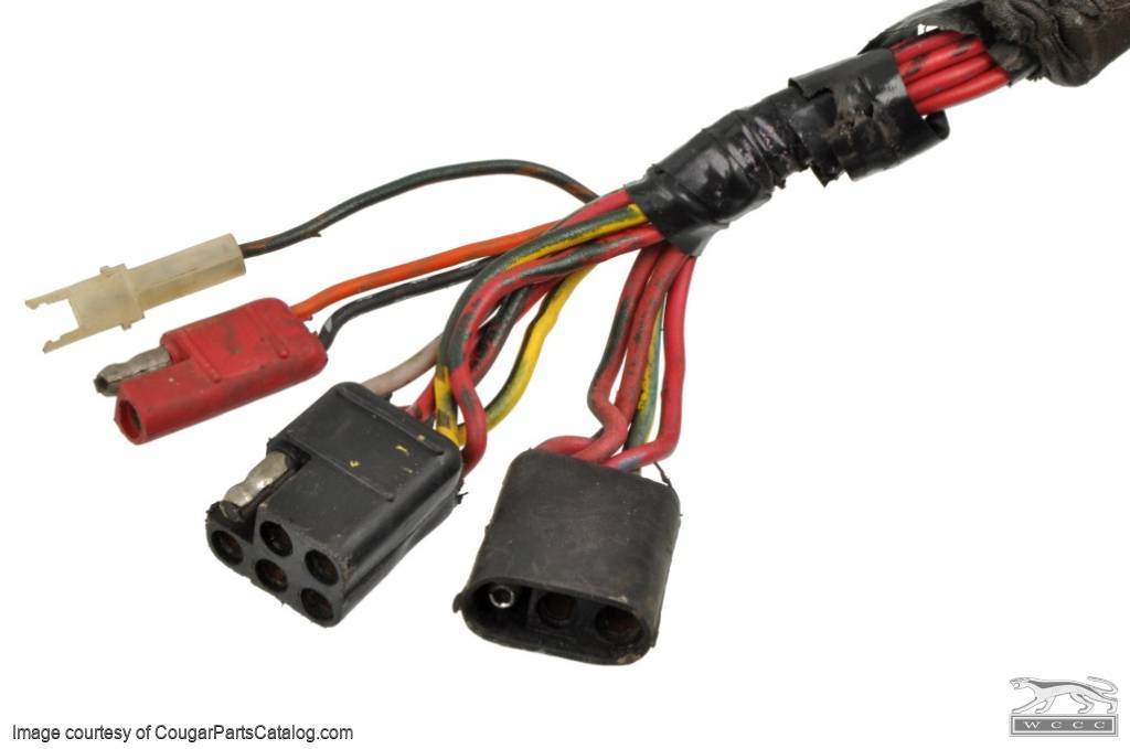 1438291313_e door wiring harness power window driver side used ~ 1973 1990 Mustang Wiring Harness at gsmx.co