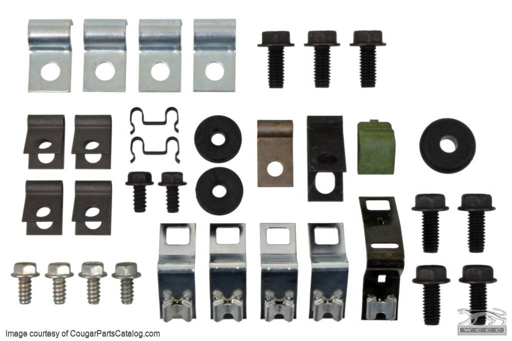 Fastener Kit - Brake / Fuel Line - Repro ~ 1968 Mercury Cougar / 1968 Ford Mustang V8 Only - 41051