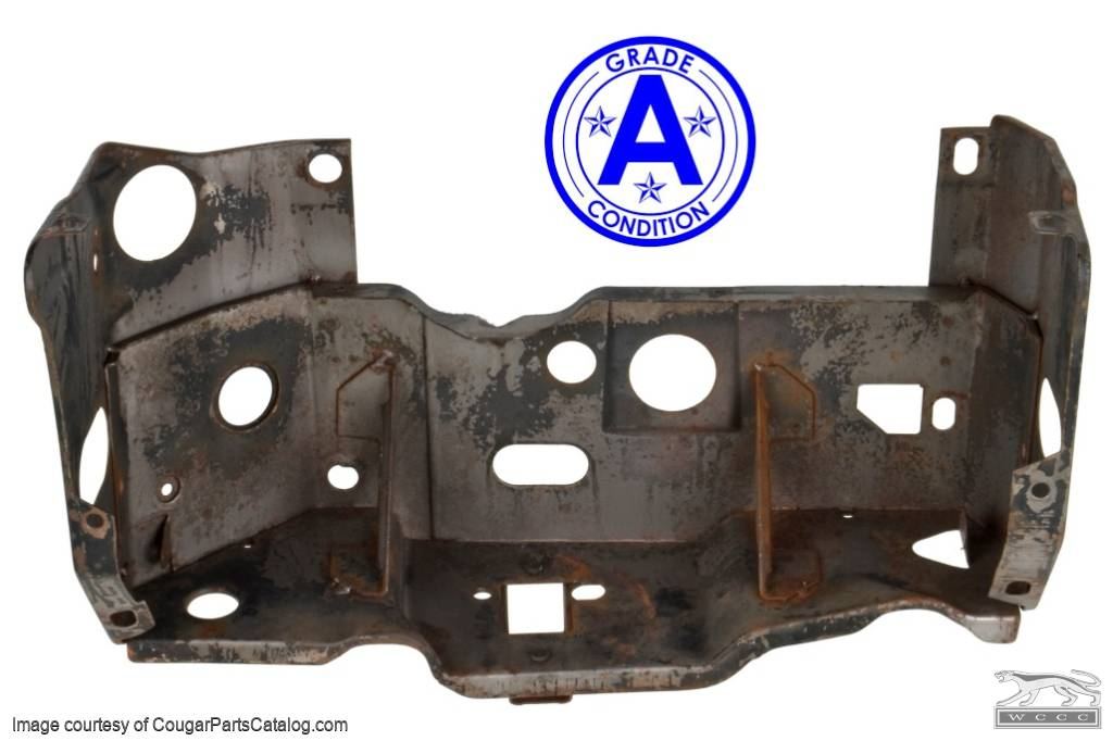 Mounting Bracket / Headlight Bucket - Grille - Driver Side - Grade A - Used ~ 1967 - 1968 Mercury Cougar - 41559