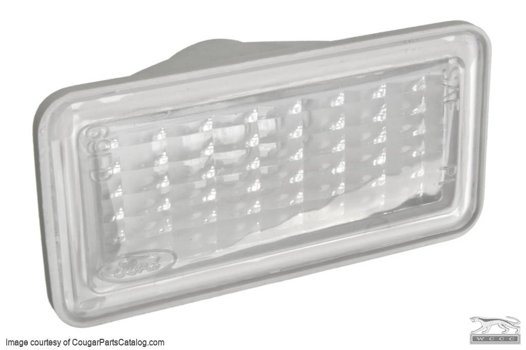 Lens - Side Marker Light - Front - Repro ~ 1969 Mercury Cougar / 1969 Ford Mustang - 41717