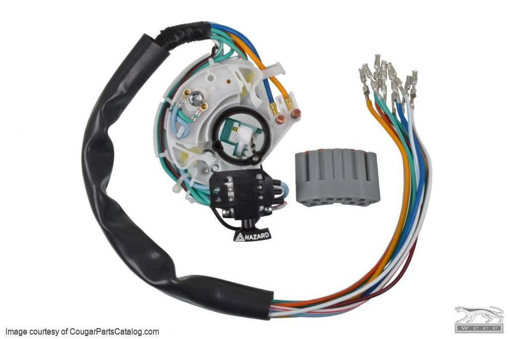 [DIAGRAM_3US]  Turn Signal Switch - Tilt Column for 1973 Mercury Cougar, 1973 Ford Mustang  at West Coast Classic Cougar :: The Definitive 1967 - 1973 Mercury Cougar  Parts Source | Ford Mustang Turn Signal Switch Wiring |  | West Coast Classic Cougar