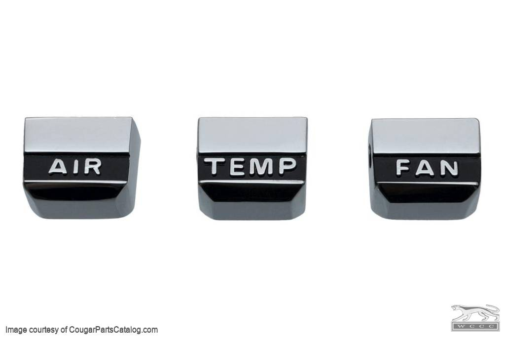 A/C Selector Buttons - Repro ~ 1967 Mercury Cougar - 1967 Ford Mustang - 41759