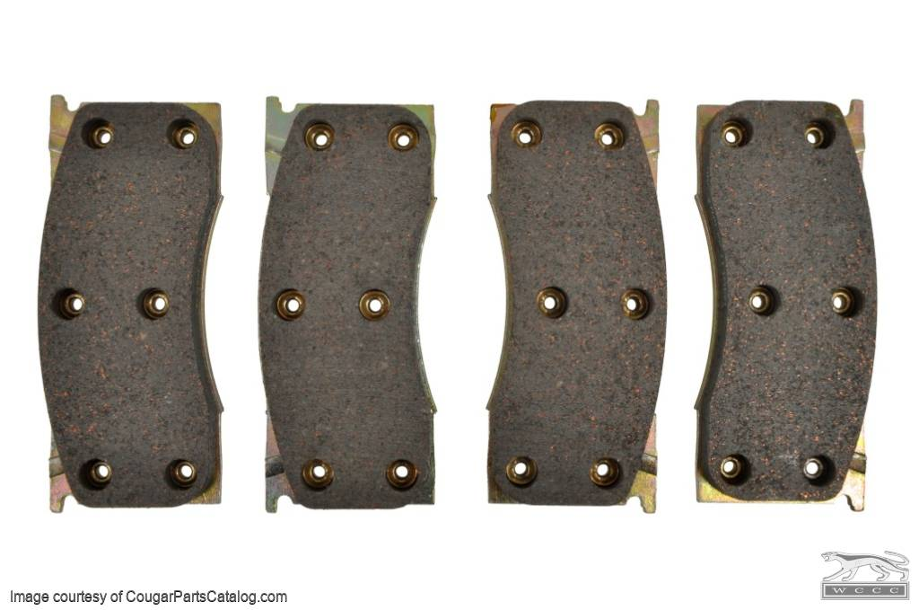 Front Disc Brake Pads - ECONOMY - Repro ~ 1967 Mercury Cougar - 1967 Ford Mustang - 41798