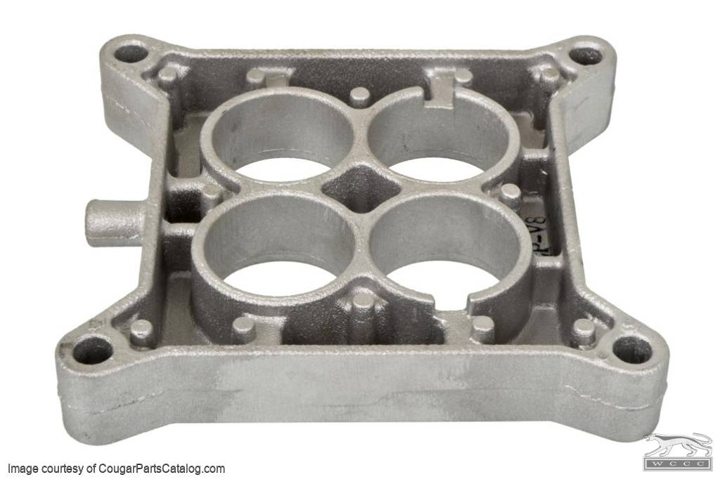 Carburetor Spacer Plate - 4V - 289 / 302 / 351W - Repro Fits: 1967 - 1969  Mercury Cougar / 1967 - 1969 Ford Mustang