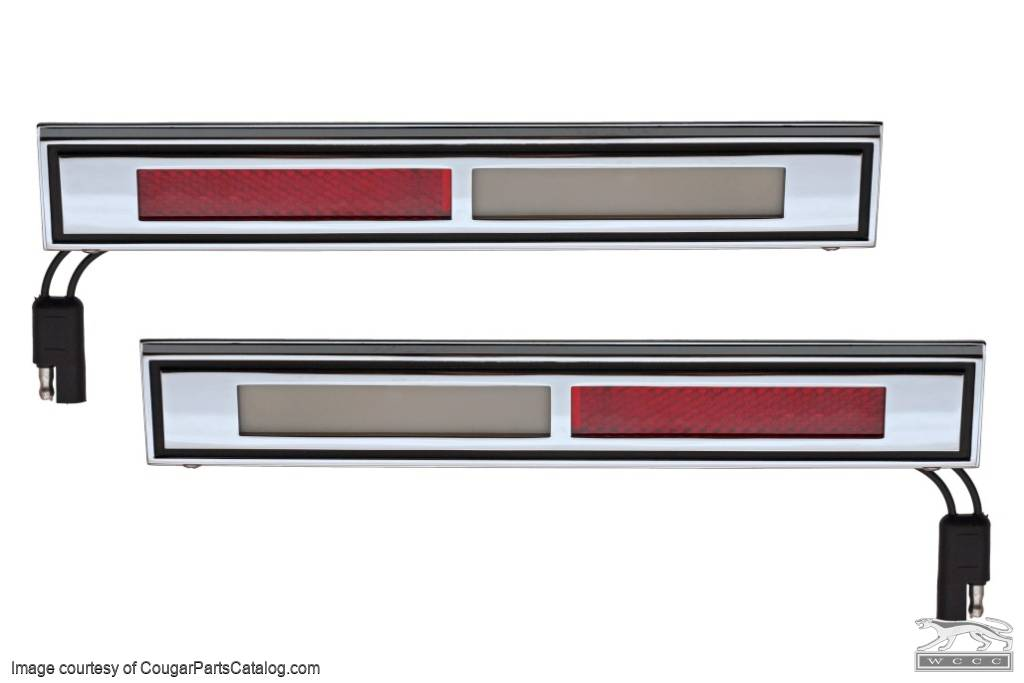 Courtesy Light Assemblies - Door - PAIR - Repro ~ 1969 - 1970 Mercury Cougar / 1969 - 1970 Ford Mustang - 41954