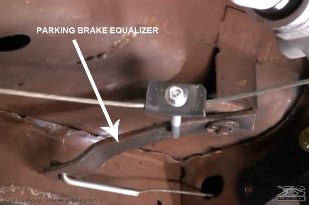 Equalizer Lever - Emergency / Parking Brake - Repro ~ 1967 - 1968 Mercury Cougar / 1967 - 1968 Ford Mustang - 41996