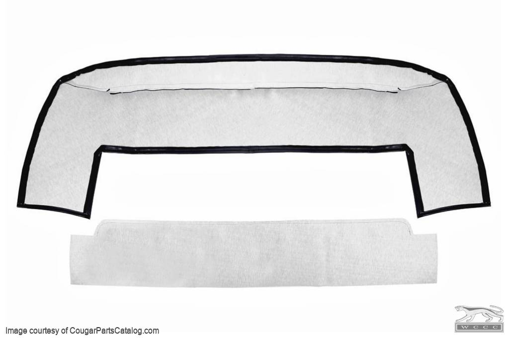 Boot Liner - Convertible Top - BLACK - ECONOMY - Repro ~ 1969 - 1970 Mercury Cougar / 1969 - 1970 Ford Mustang - 42120