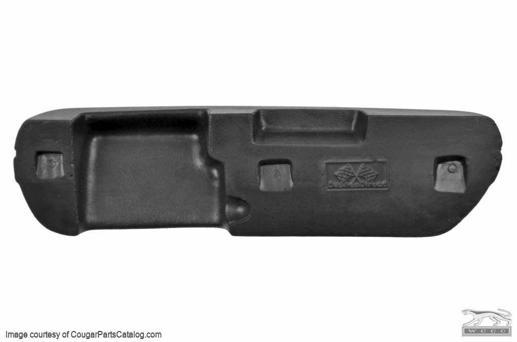 Armrest - Front - BLACK - Driver Side - Repro ~ 1969 - 1970 Mercury Cougar / 1969 - 1970 Ford Mustang - 42227