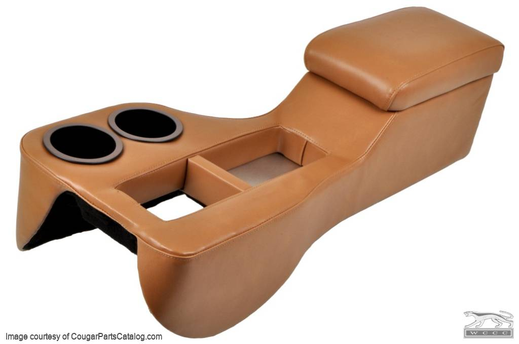 Cruiser Console - SADDLE - Coupe - New ~ 1967 - 1973 Mercury Cougar / 1967 - 1973 Ford Mustang