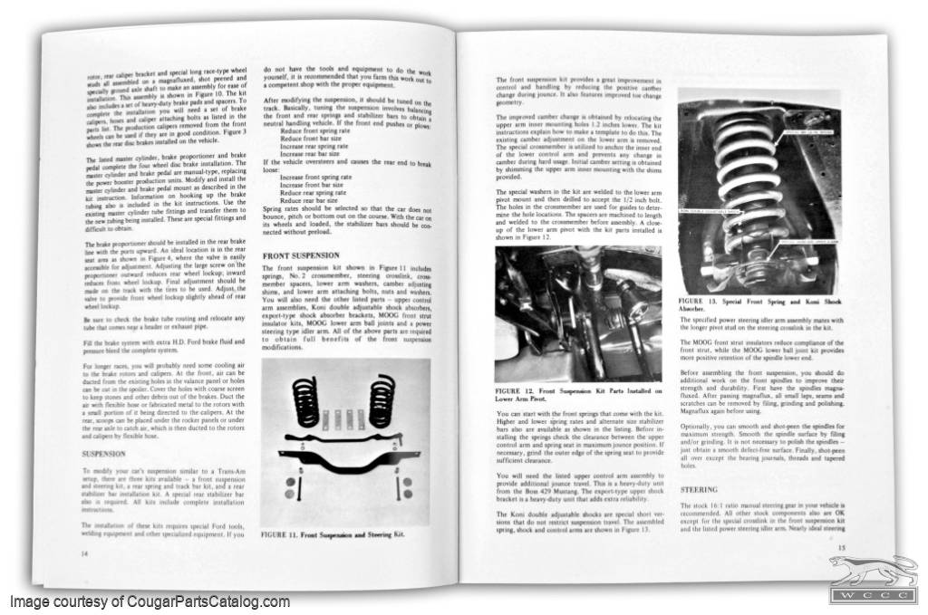 Performance Manual - BOSS 302 Chassis Modification for the Strip / Track - Repro ~ 1967 - 1970 Mercury Cougar / 1967 - 1970 Ford Mustang - 25949