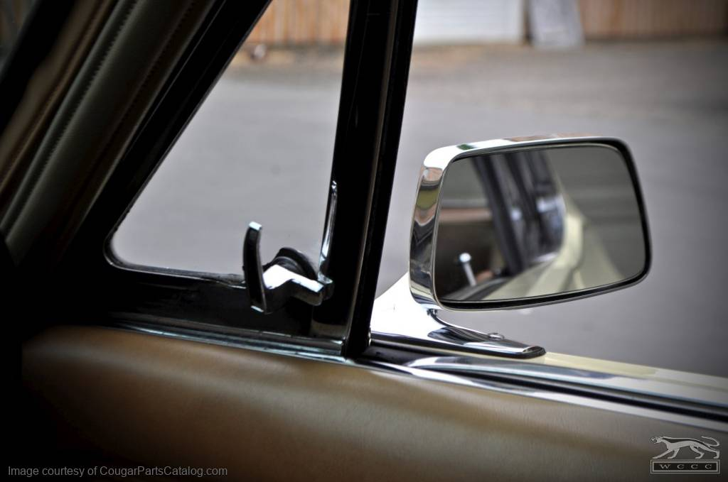 Side View Mirror - Passenger Side - CONVEX - Manual - Standard - Repro ~ 1967 - 1968 Mercury Cougar - 26512