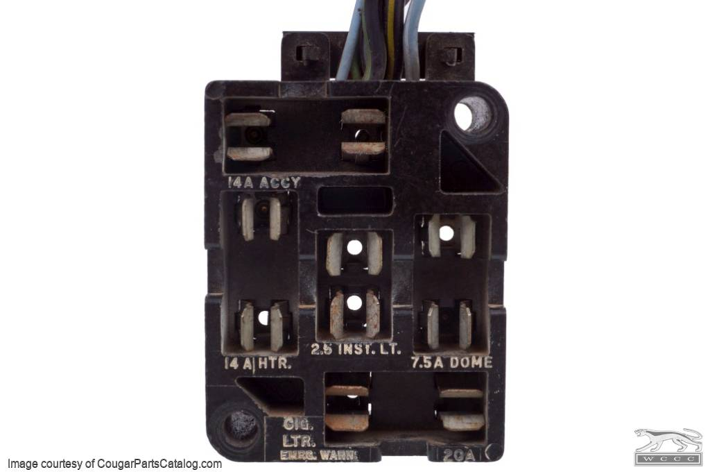 fuse block w wire leads used 1967 mercury cougar. Black Bedroom Furniture Sets. Home Design Ideas