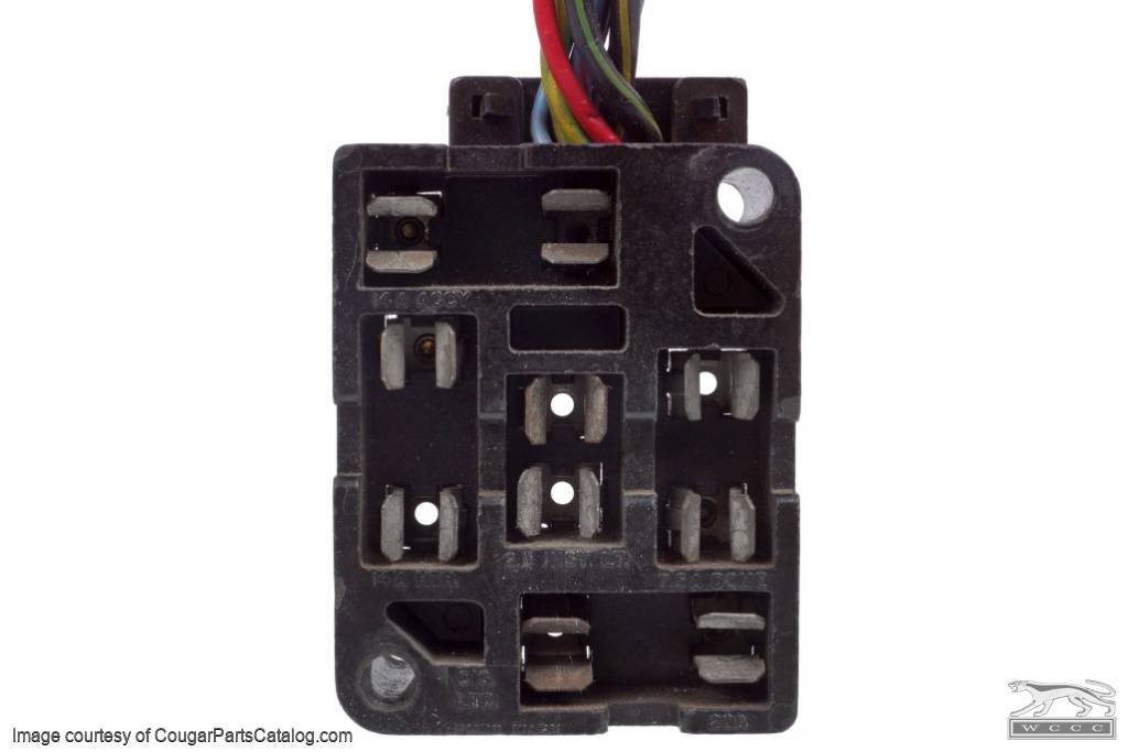 Wiring    Fuse       Block     w Wire Leads  Used   1968    Mercury       Cougar      1968    Mercury       Cougar      at West