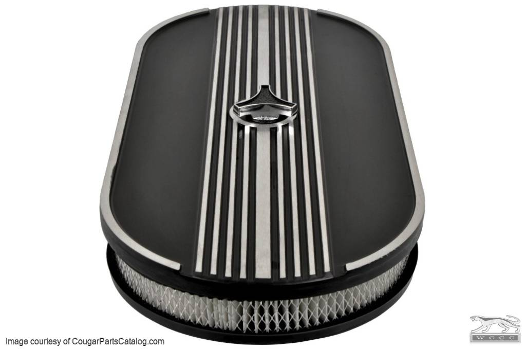 Air Cleaner - Oval - Repro ~ 1967 - 1973 Mercury Cougar / 1967 - 1973 Ford Mustang - 15704