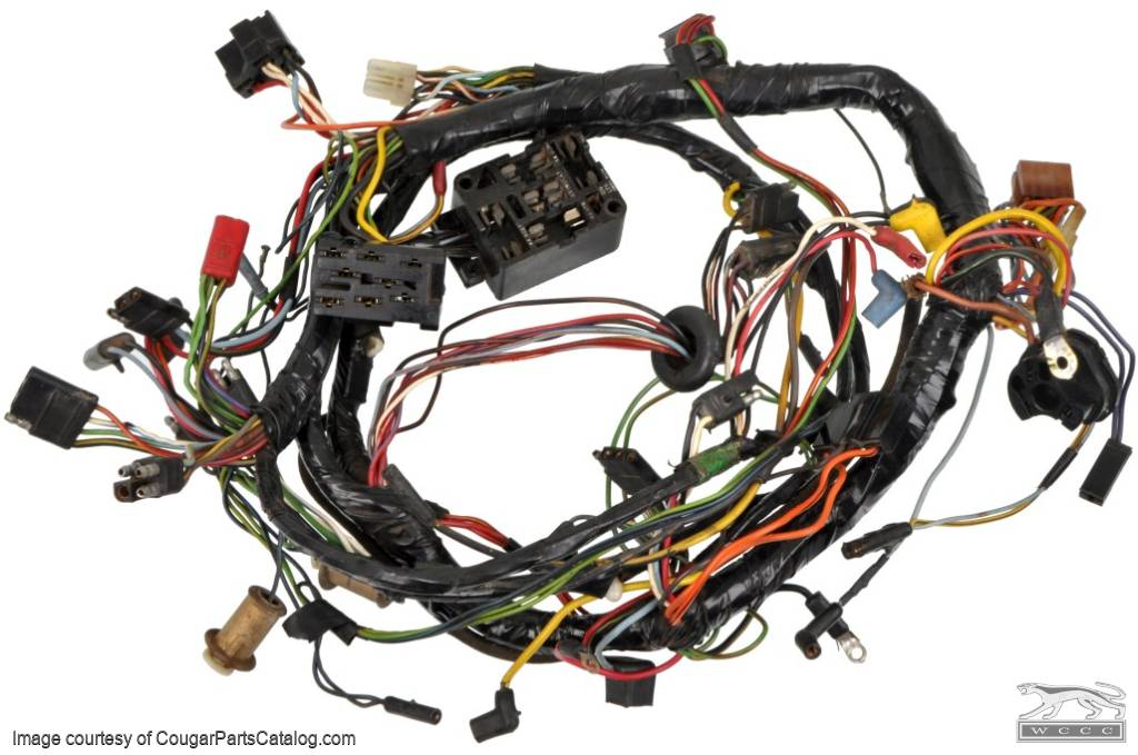 Under Dash Wiring Harness - Standard - Grade A - EARLY - Before 1/3/1967 - Used ~ 1967 Mercury Cougar - 26965