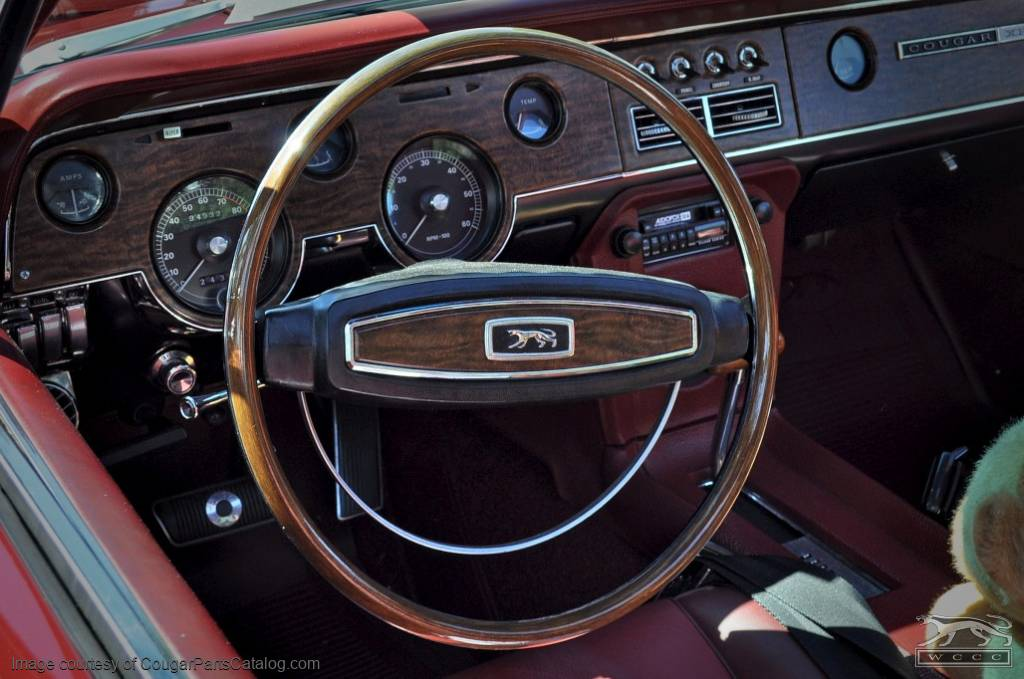 Steering Wheel - XR7 / Decor / Deluxe - Restored ~ 1968 Mercury Cougar / 1968 Ford Mustang - 19317