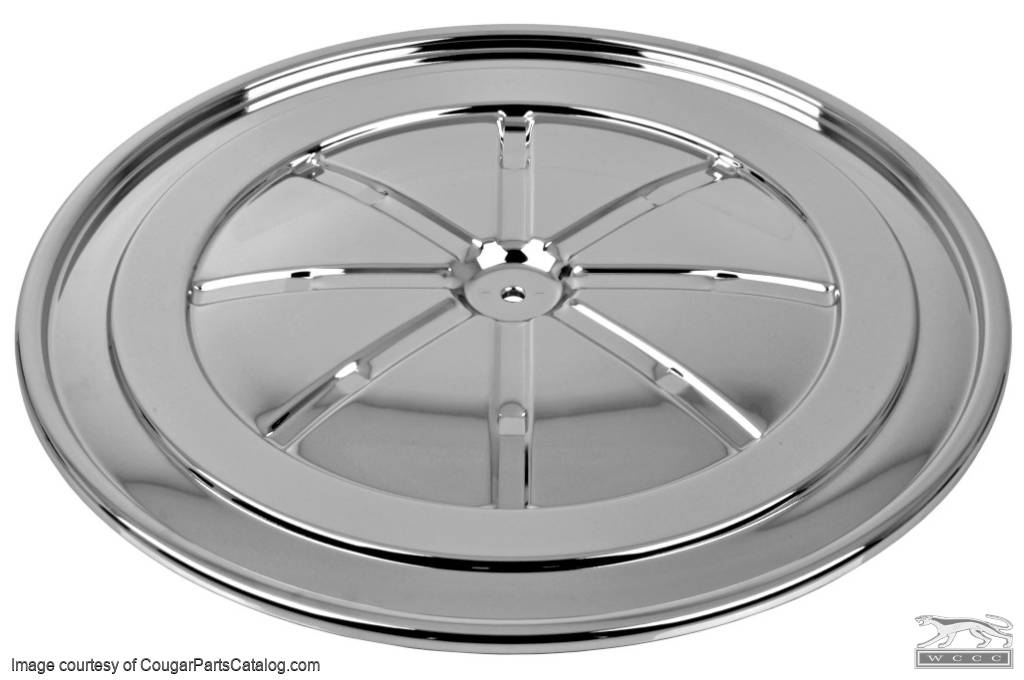 Lid - Air Cleaner - BOSS 302 / 390 GT / 428CJ / - CHROME - Repro ~ 1967 - 1970 Mercury Cougar / 1967 - 1970 Ford Mustang - 26883
