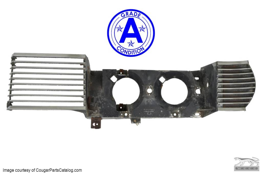 Grille Half - Driver Side - Grade A - Used ~ 1969 Mercury Cougar - 27031