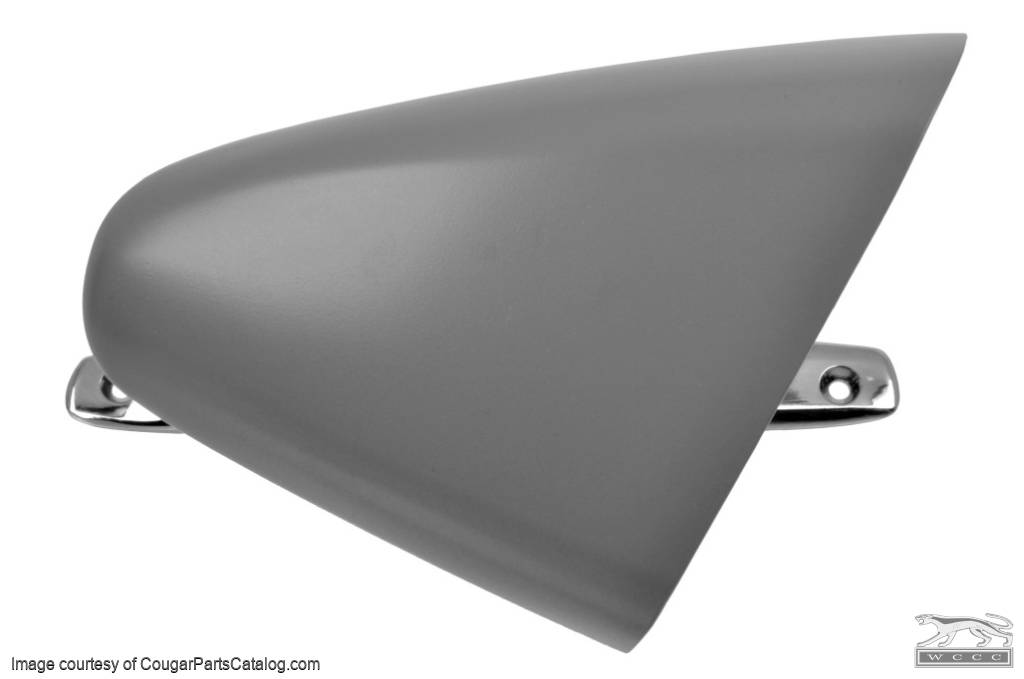 Side View Mirror - Sport - Passenger Side - Manual - XR7 - Chrome Base - Repro ~ 1969 Mercury Cougar - 27040