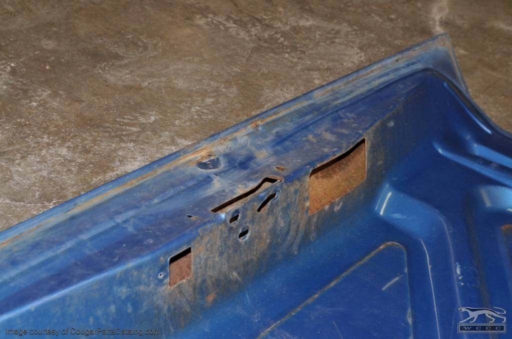 Rear Deck / Trunk Lid - Grade A - LATE - Used ~ 1972 - 1973 Mercury Cougar - 27194