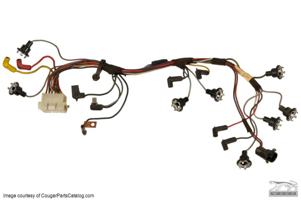 Instrument Cluster - Socket and Wiring Assembly - XR7 - Used ~ 1967 Mercury Cougar - 27279