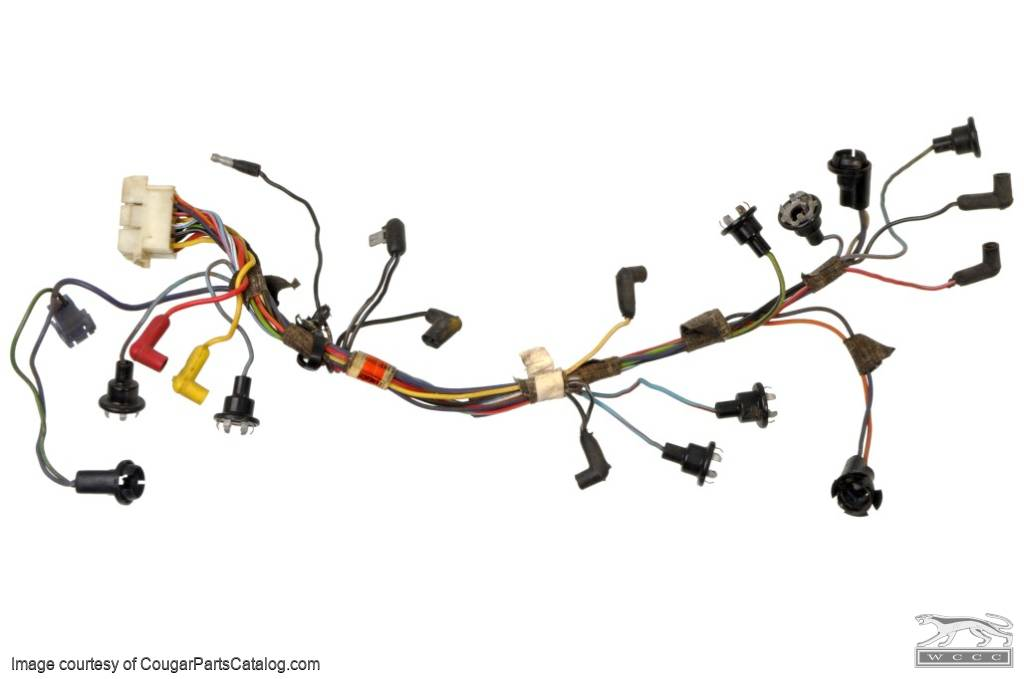 Socket and Wiring Assembly - Instrument Cluster - XR7 - Used ~ 1968 Mercury Cougar - 27280