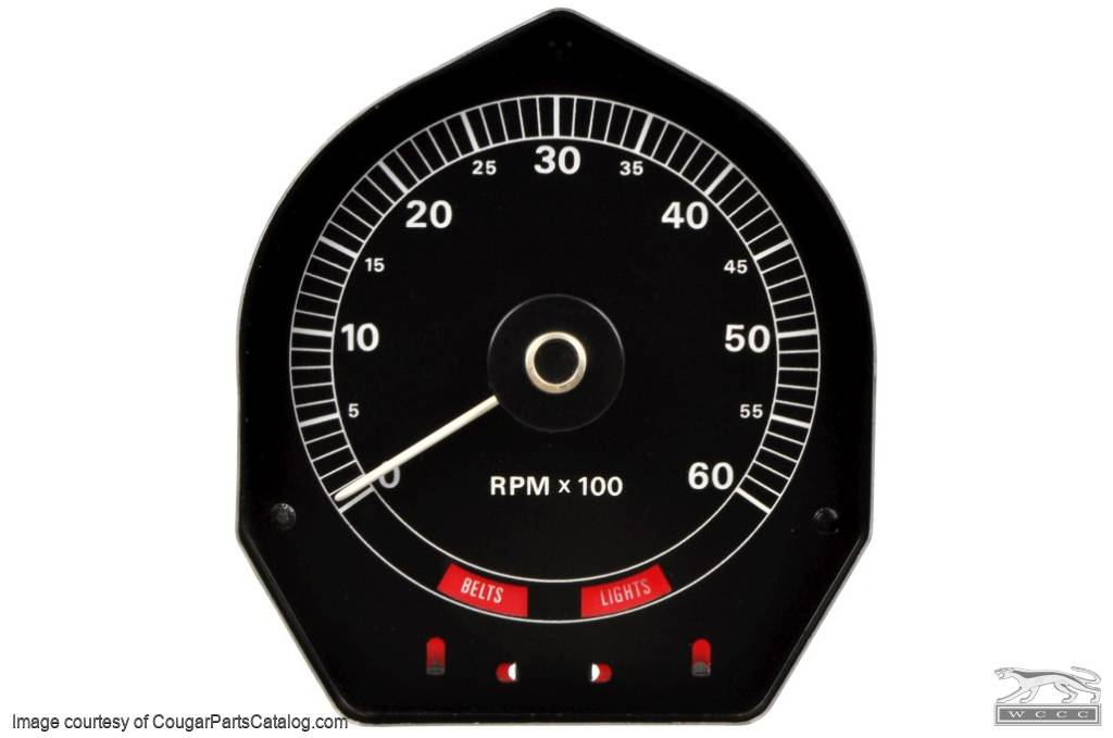Tachometer - 6000 RPM - Used - PRE-PAY CORE CHARGE ~ 1970 Mercury Cougar XR7 / Eliminator  - 21-1022
