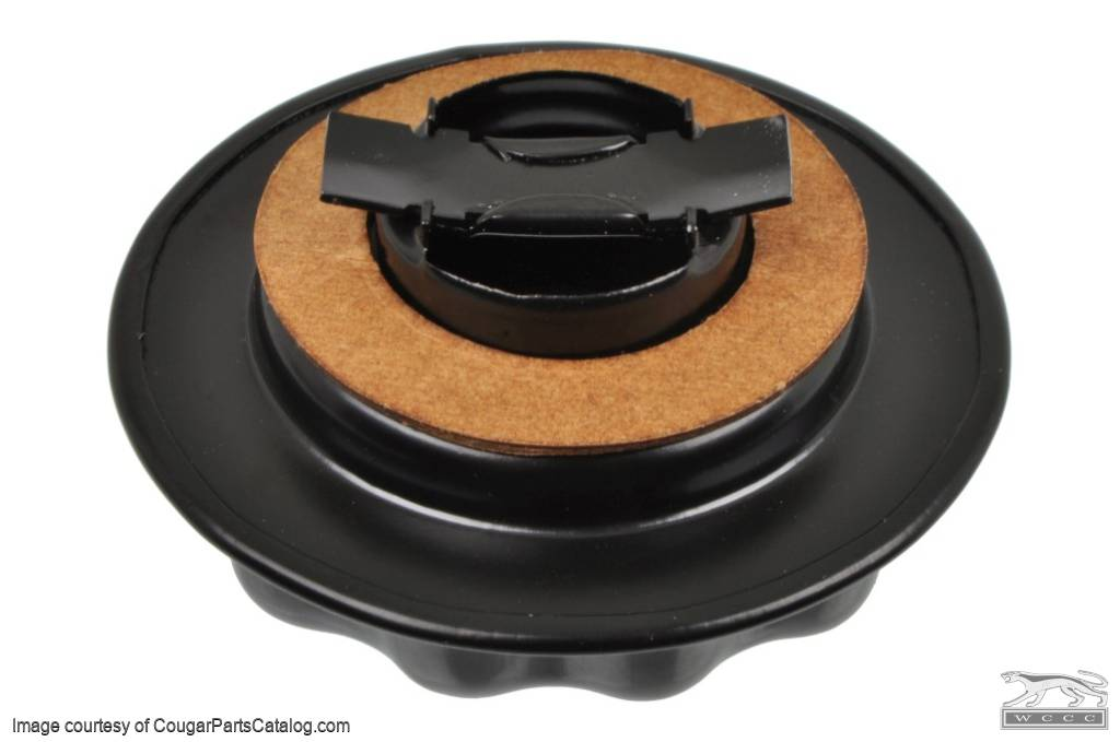 Oil Cap - Twist-on - Closed Emissions - BLACK - Repro ~ 1971 - 1973 Mercury Cougar / 1971 - 1973 Ford Mustang - 27451