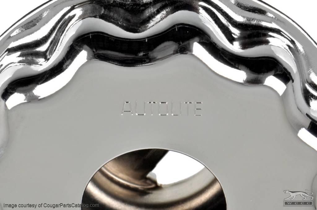 Oil Cap - Twist-on - Closed Emissions - CHROME - Repro ~ 1971 - 1973 Mercury Cougar / 1971 - 1973 Ford Mustang - 27452