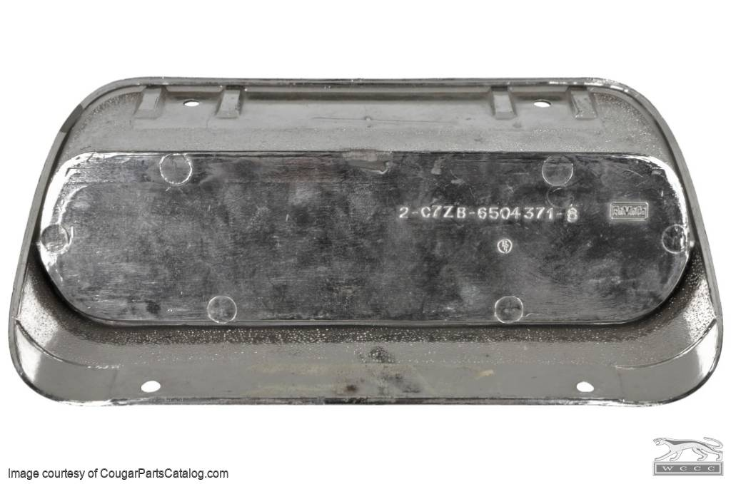 Radio Delete Plate - Used ~ 1967 - 1968 Mercury Cougar / 1967 - 1968 Ford Mustang - 27458