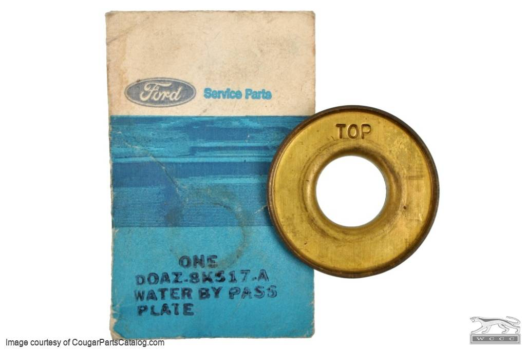 Water Restrictor Plate - 351C - NOS Fits: 1970 - 1973 Mercury Cougar / 1970  - 1973 Ford Mustang
